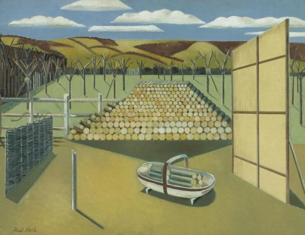 Landscape at Iden 1929 by Paul Nash 1889-1946
