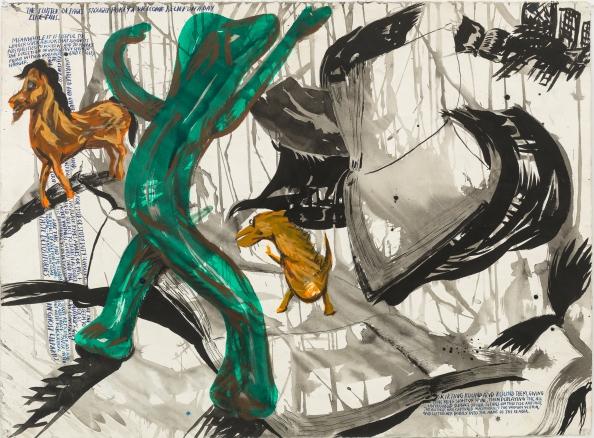 Raymond Pettibon, No Title (The flutter of …), 2008.jpg